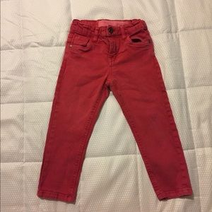 Size 2T boys red skinny jeans